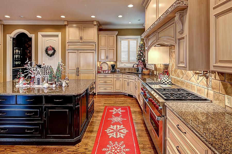 Smart carpet addition for the kitchen [Design: Julie Sandman]