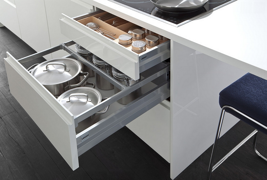 Smart space-saving solution for the trendy contemporary kitchen