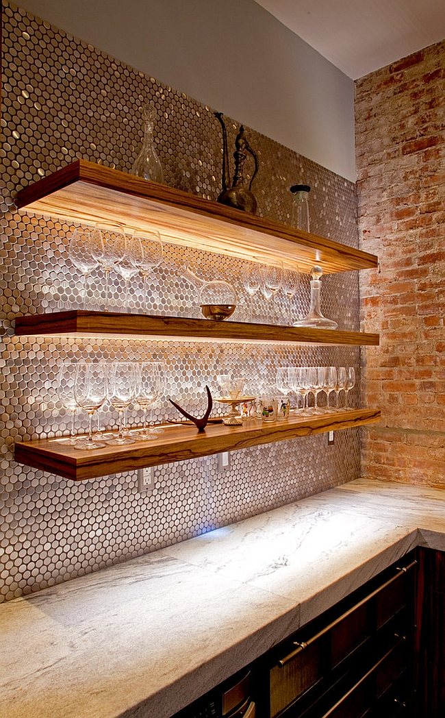 Smart use of lighting to highlight architectural features [Design: Superior Woodcraft]