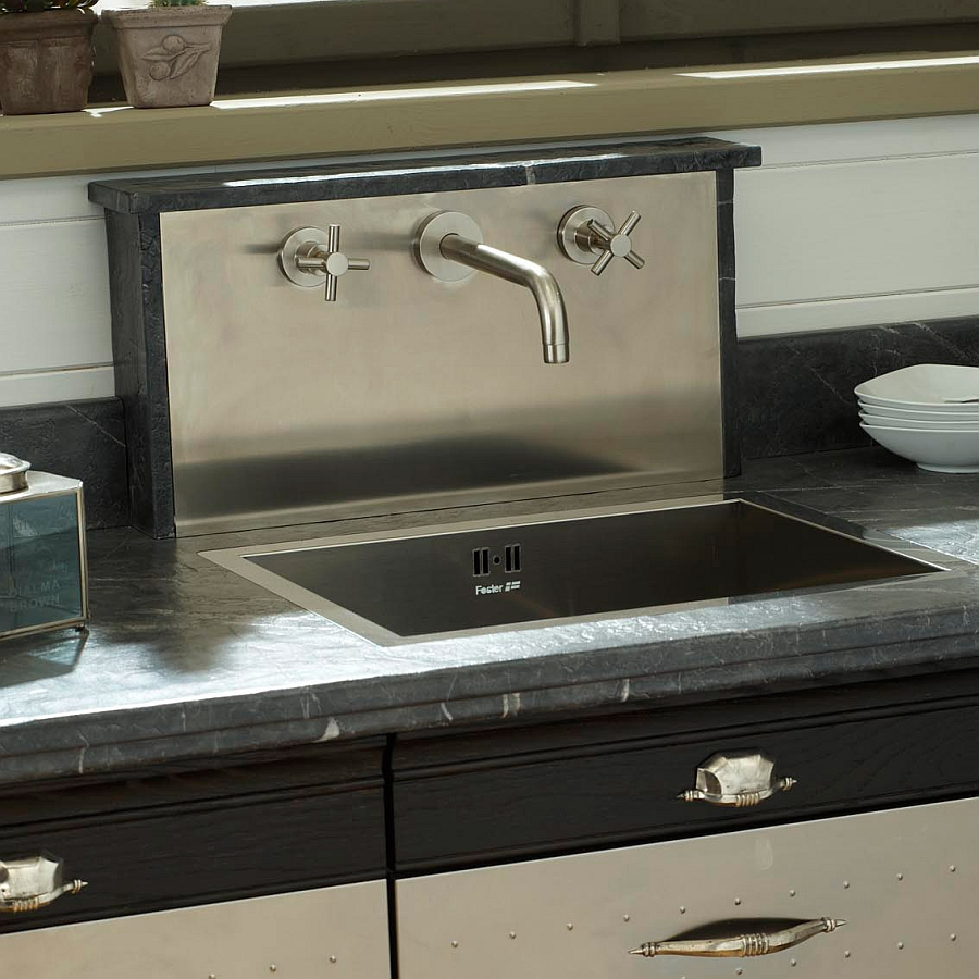 Square kitchen sink design