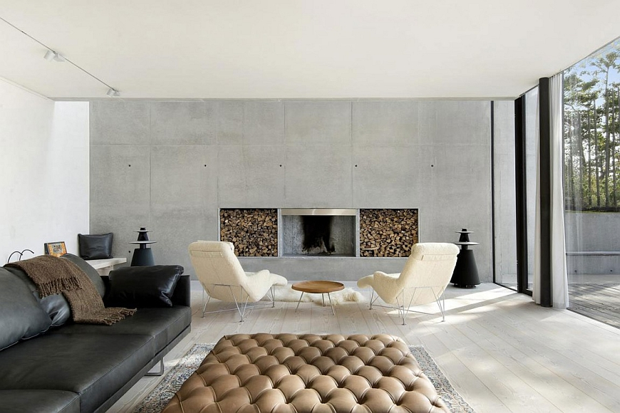sensational minimalist villa in sweden with private beach & sea views, Wohnzimmer dekoo