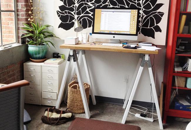 Standing Desk Made of Horses