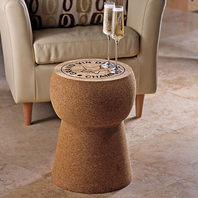 Stool Shaped Like Giant Cork