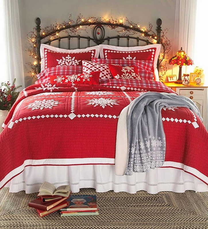 view in gallery string lights add a touch of festive charm to the bedroom from gracia nolan - Christmas Bedroom Decor Ideas