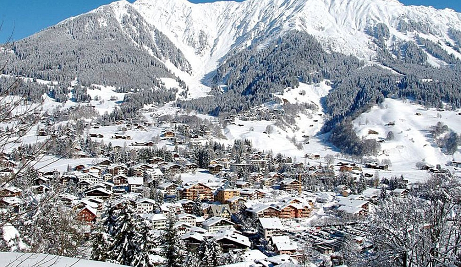 Stunning view of Klosters from Chalet Bear
