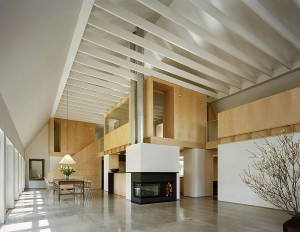 Sweeping interior with high ceiling and a spacious appeal