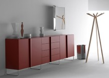 Swing Cabinets 217x155 2015 Pantone Color of the Year: How to Use Marsala in Your Home