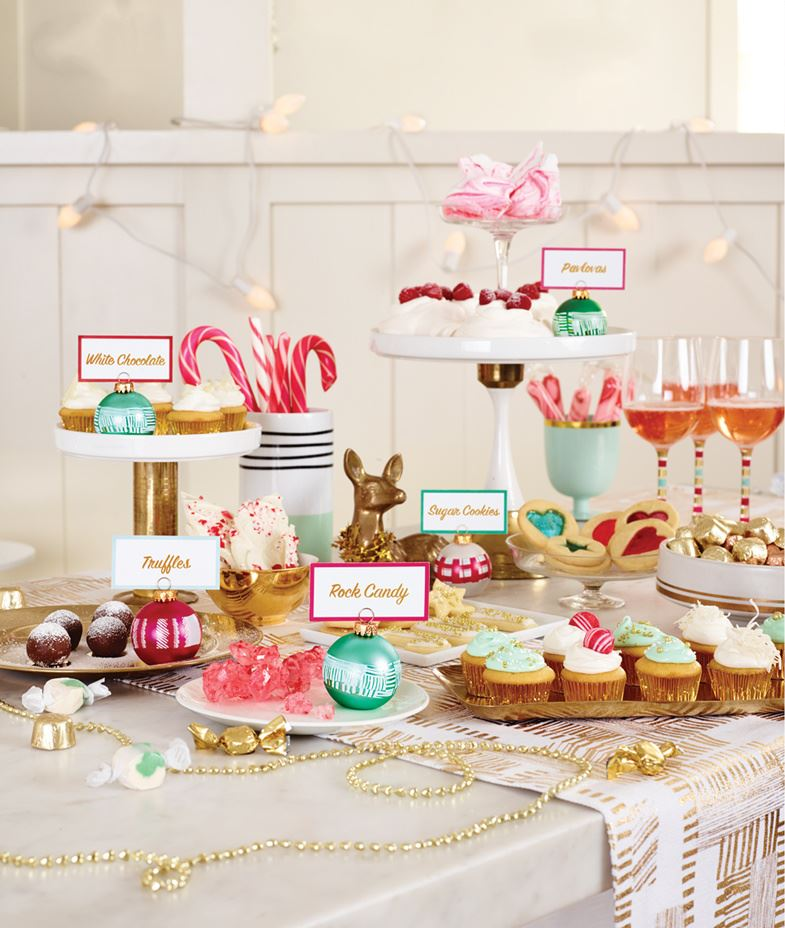 Table styling by Joy Cho and Target Creative Christmas Party Ideas for Design Lovers