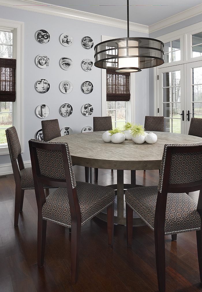 view in gallery theme and variations plates in the dining room design amw design studio