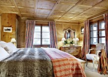 Traditional chalet design adds to the appeal of the interior