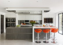 Turn the kitchen island into the focal point of your open plan living area
