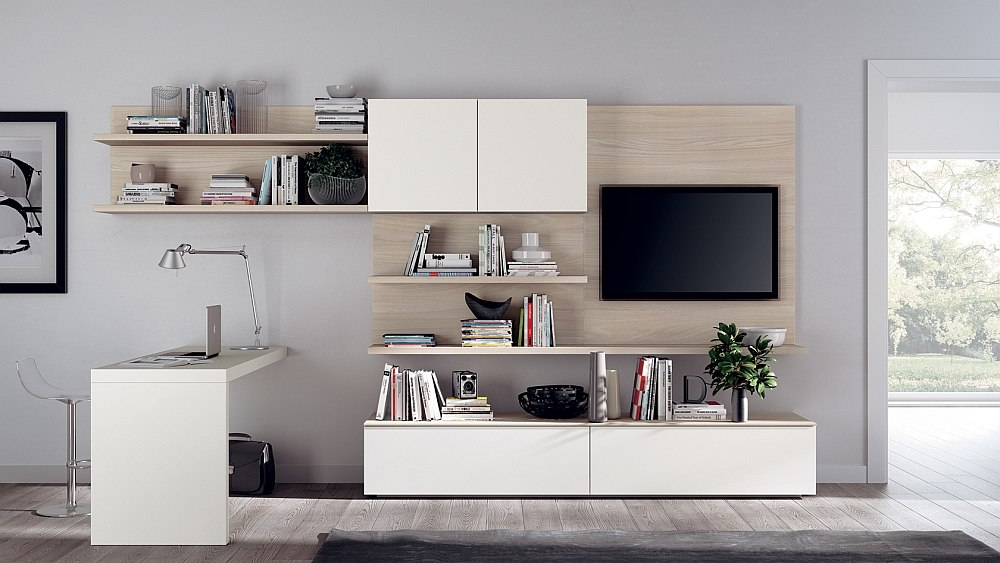 Turn to wood backpanels for a touch of elegance in the living room