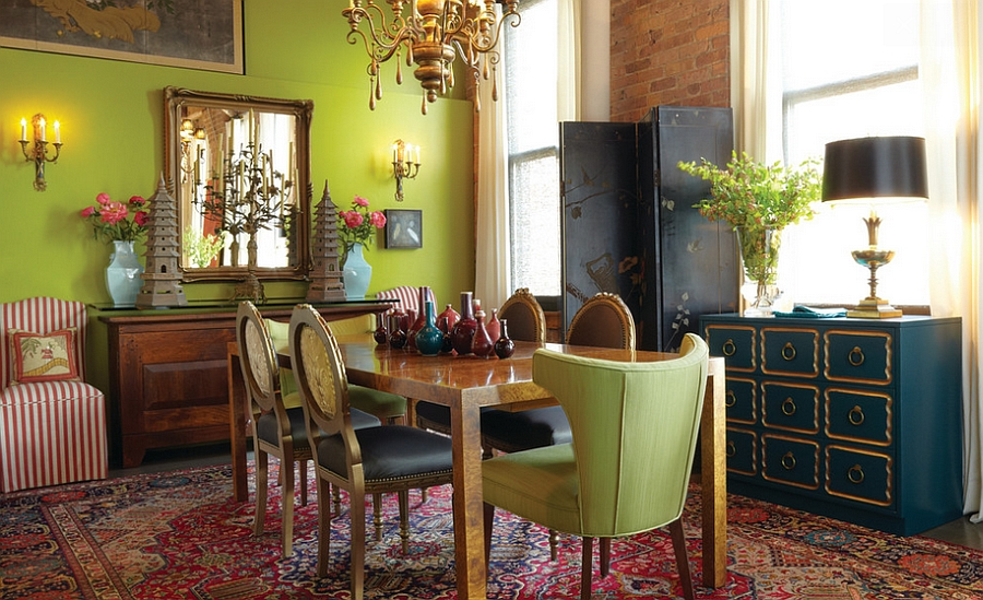 12 red and green dining rooms for the holidays and beyond for Red dining room designs