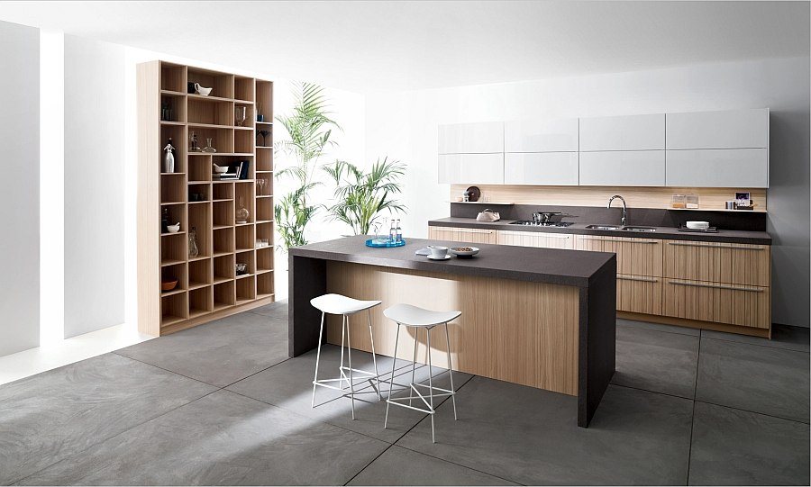 Vesatile kitchen compositions from Snaidero
