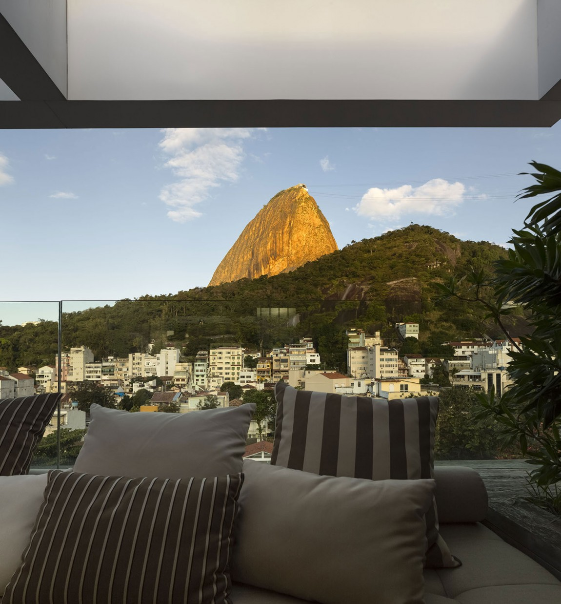 View from the relaxed balcony of the Rio home