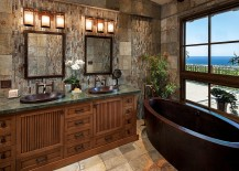 View outside adds to the appeal of the bathroom