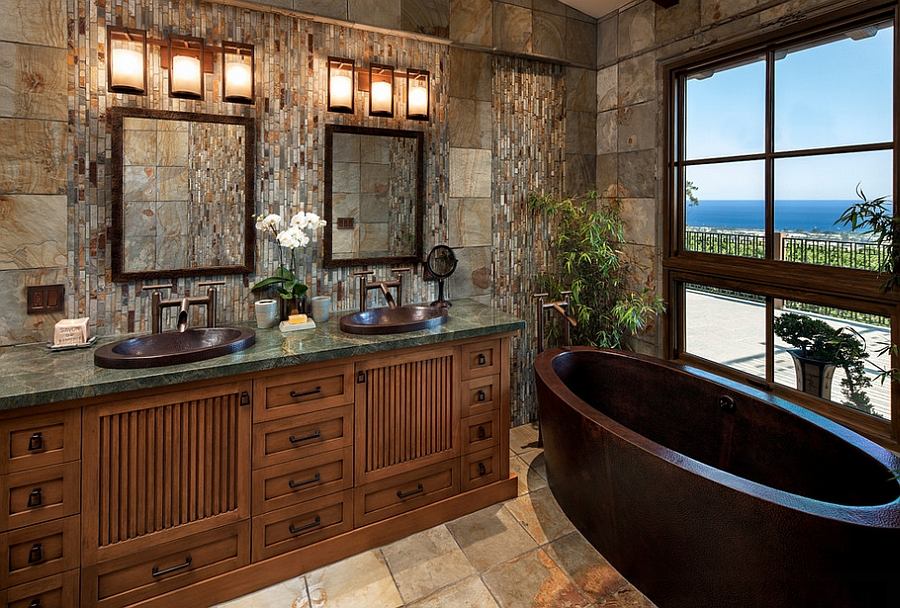 View outside adds to the appeal of the bathroom [Design: Jack 'N Tool Box]