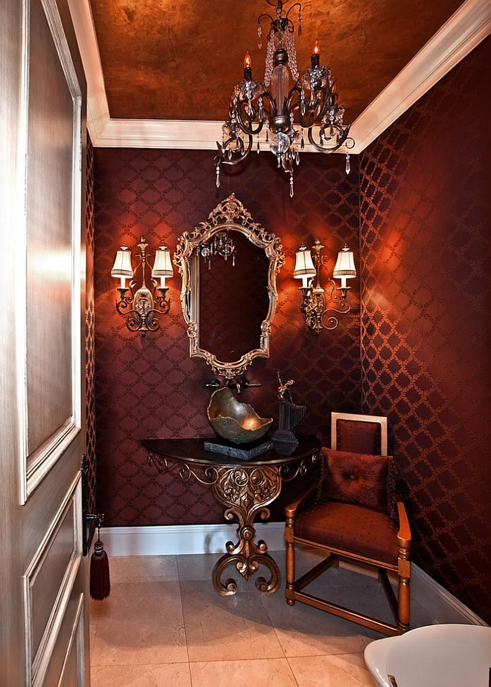 Wallcovering that oozes opulence! [Design: Orange Coast Interior Design]