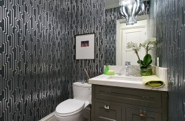 Wallpaper creates a dazzling little space!