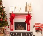 Washi tape fireplace