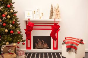 Washi tape fireplace