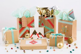 Washi tape gift wrap ideas from Brit + Co