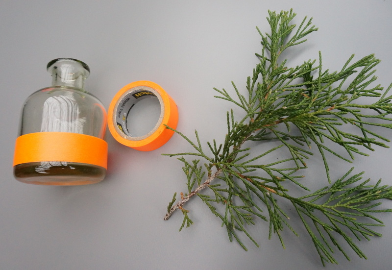 Washi tape vase project