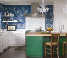 Wonderful use of color in the eclectic kitchen [Design: Andrea Schumacher Interiors]