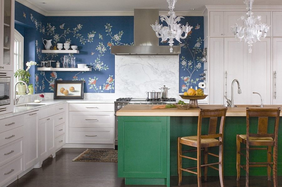 Attractive View In Gallery Wonderful Use Of Color In The Eclectic Kitchen [Design:  Andrea Schumacher Interiors]