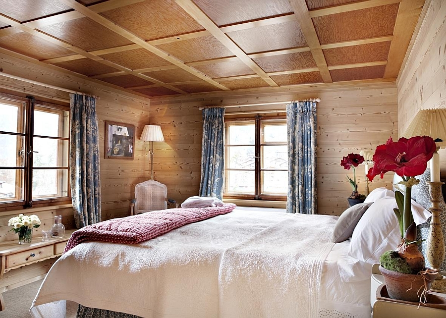 Wood brings warmth and elegance to the bedroom