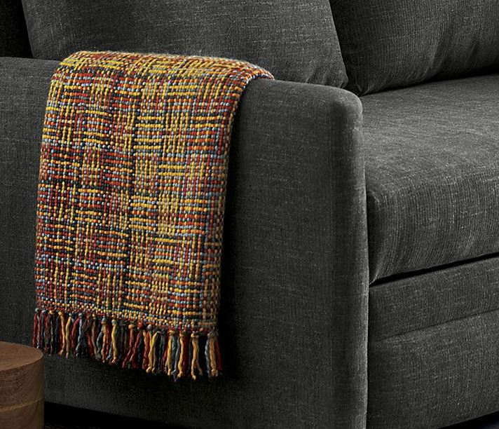 Wool throw from Crate & Barrel