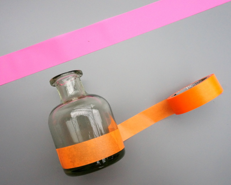 Wrap washi tape around the vase