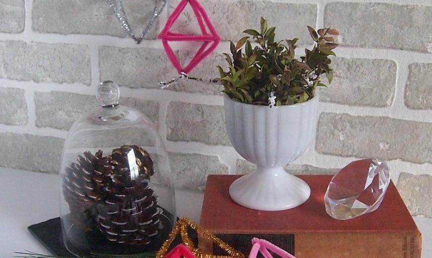 DIY Winter Decor Using Painted Pinecones