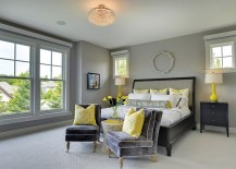 Add a couple of throw pillows to infuse yellow zest to the room