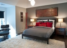 Asian-inspired-bedroom-in-gray-and-red-217x155