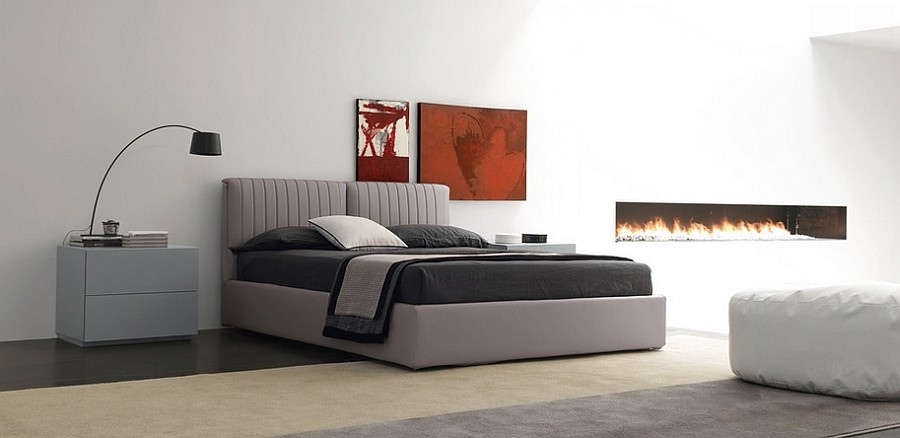 atalnte bed in cool gray promises to transform the mood of your bedroom design. beautiful ideas. Home Design Ideas