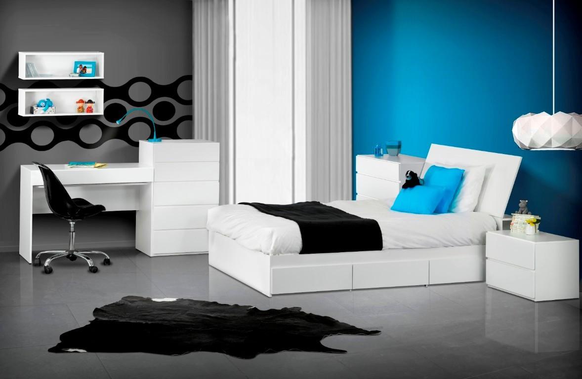 BLVD Reversible Platform Bedroom Collection Blue Room