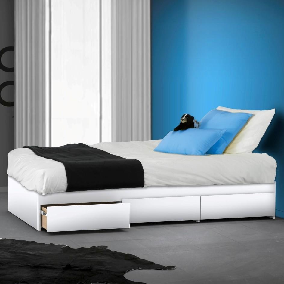 BLVD Reversible Platform Bedroom Collection Blue