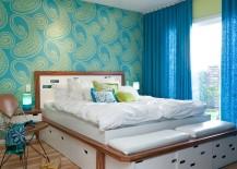 Beautiful-wallpaper-adds-midcentury-flavor-to-the-bedroom-217x155