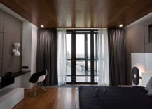 Bedroom offers stunning views of Dnieper