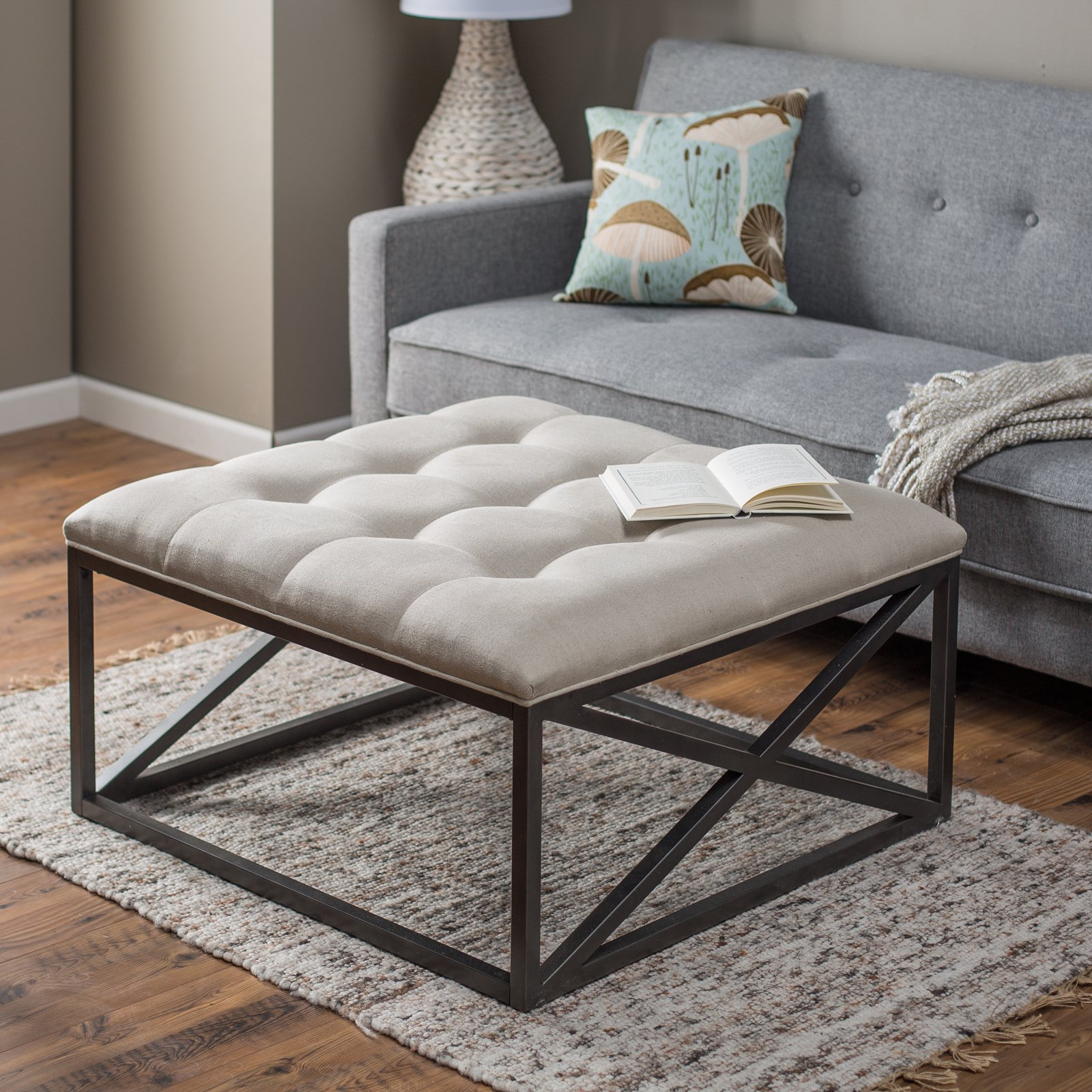 Ottoman Coffee Table With Sliding Wood Top: 8 Plush Tufted Ottomans To Add Comfort And Functionality