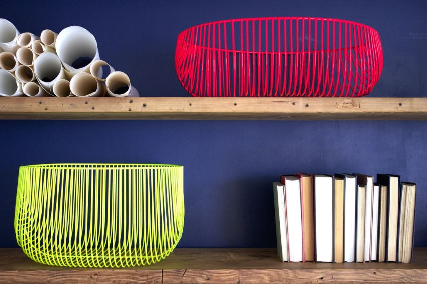 Bend baskets in neon hues