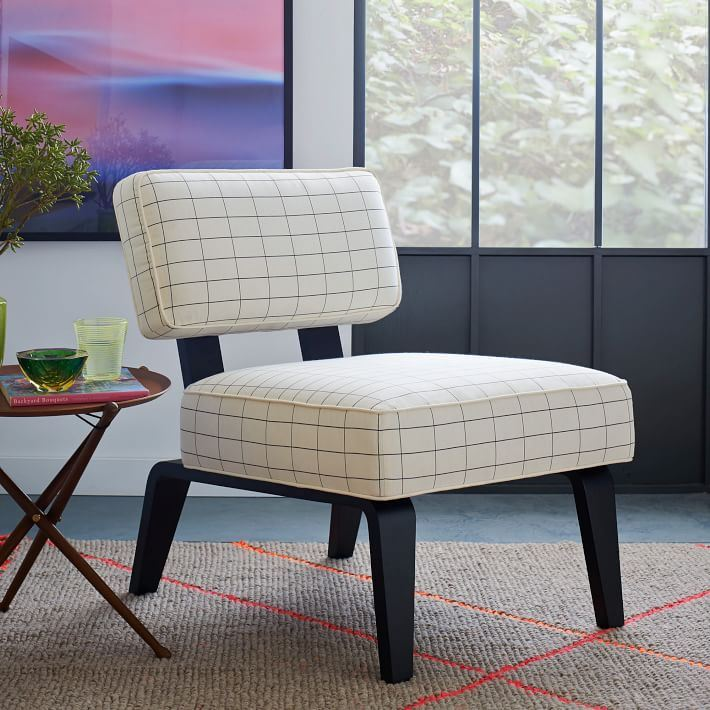 Bentwood Slipper Chair covered in Kate Spade fabric from West Elm