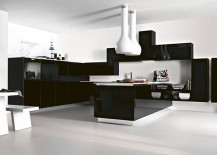 Brilliant contemporary take on the classic black and white kitchen