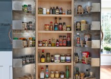 Brilliant kitchen cupboard design inspired by recycled Indian tinware
