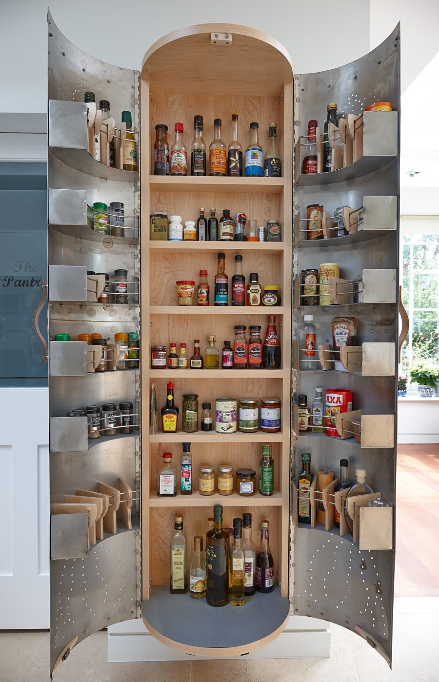 View In Gallery Brilliant Kitchen Cupboard Design Inspired By Recycled  Indian Tinware