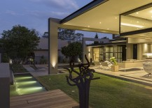 Brilliant lighting and smart use of glass define the architectural features
