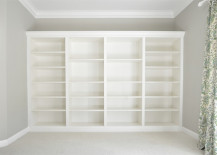 Built In Bookcases made of Ikea Billy