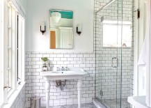 Ceiling-brings-a-splash-of-turquoise-to-the-retro-bathroom-217x155