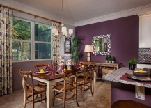Cheerful and fun dining room with tropical style